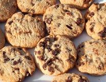 Schokoladensplitterplätzchen oder -kekse background Stockfoto