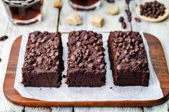 Schokoladensplitterschokoladenkuchen der roten Bohnen lizenzfreie stockfotos