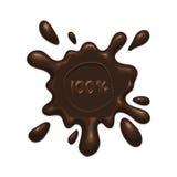 Schokoladenspritzenfleck Stockbild