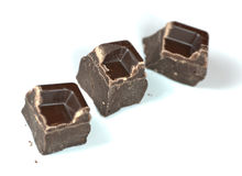 Schokoladenstücke Stockfoto