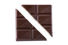 Schokoladenstück Stockfoto