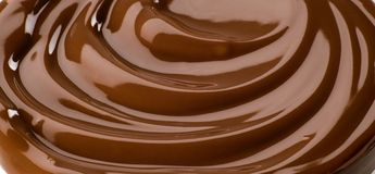 Schokoladenstrudel stockfoto