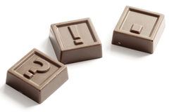 Schokoladensymbole Lizenzfreies Stockbild