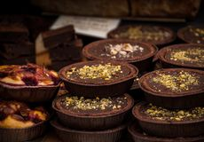 Schokoladentörtchen stockfoto