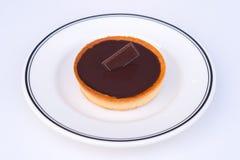 Schokoladentörtchennachtisch lizenzfreies stockfoto