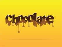 Schokoladentext Lizenzfreie Stockfotos