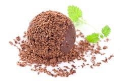 Schokoladentrüffel Stockfoto