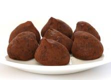 Schokoladentrüffel-Pralinebonbons Lizenzfreie Stockfotografie