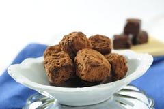 Schokoladentrüffeln Stockfoto
