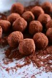 Schokoladentrüffeln Stockbild