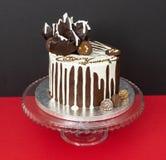 Schokoladentropfenfängerkuchen stockfoto