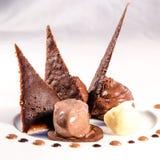 Schokoladenwüstendetail lizenzfreie stockfotografie
