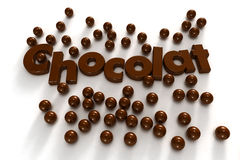 Schokoladenwesentliches Lizenzfreies Stockfoto