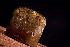 SchokoladePanettonekuchen Stockbild
