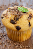 Schokomuffin. Freshly baked muffin with chocolate sprinkles Royalty Free Stock Photography
