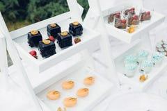 Schokoriegel auf Natur Köstliche Kuchen Stockbilder