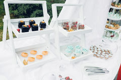 Schokoriegel auf Natur Köstliche Kuchen Stockbild