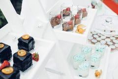 Schokoriegel auf Natur Köstliche Kuchen Lizenzfreies Stockfoto