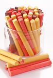 Schokoriegel, farbiger Schaumgummi lizenzfreie stockbilder