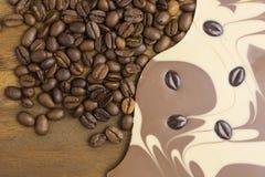 Schokoriegelkaffee Lizenzfreie Stockfotografie