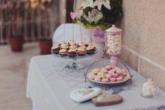 Schokoriegelkleiner kuchen Stockfoto