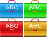 Scholar briefcases Royalty Free Stock Photography