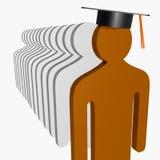 Scholar leader. A Smart Scholar leader illustration Stock Photo