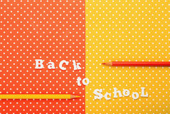 Scholar material to back to school in colored background Stock Image