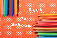 Scholar material to back to school in colored background Stock Photography