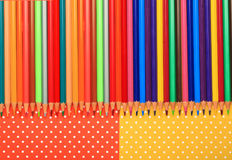 Scholar material to back to school in colored background Royalty Free Stock Photos