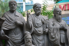 Scholar Statues Royalty Free Stock Image