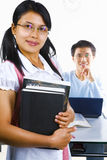 Scholars in study room Royalty Free Stock Photo
