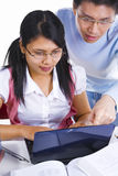 Scholars studying together Royalty Free Stock Images