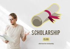 Scholarship Aid College Education Loan Money Concept Stock Photo