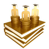 Scholarship And Graduation Golden Books Symbol Stock Photos