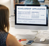 Scholarship Application Form Foundation Concept Stock Image