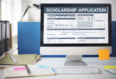 Scholarship Application Form Foundation Concept Royalty Free Stock Photos