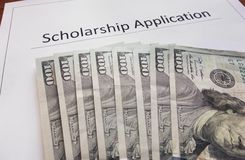 Scholarship application Royalty Free Stock Image
