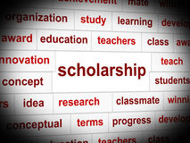 Scholarship Education Indicates Educating Train And Development Royalty Free Stock Photography