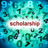 Scholarship Education Represents College Academy And Graduating. Education Scholarship Showing Diploma University And Educational Stock Photos