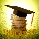 Scholarship fund and graduation symbol Royalty Free Stock Photography