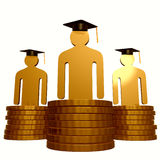 Scholarship fund and graduation symbol Royalty Free Stock Image