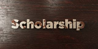 Scholarship - grungy wooden headline on Maple  - 3D rendered royalty free stock image Royalty Free Stock Image