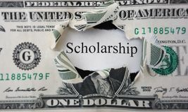 Scholarship note Stock Photography