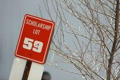 Scholarship parking lot Stock Photos