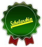 SCHOLARSHIP round green ribbon. Royalty Free Stock Photography
