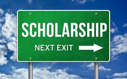 Scholarship. Take the next exit royalty free stock image