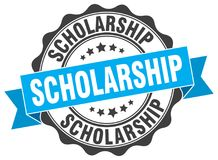 Scholarship stamp.  seal. Scholarship blue stamp. sign. seal Stock Photos