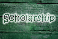 Scholarship text on background Stock Photos