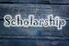 Scholarship text on background Royalty Free Stock Image